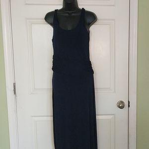Tahari Navy Blue Maxi Dress